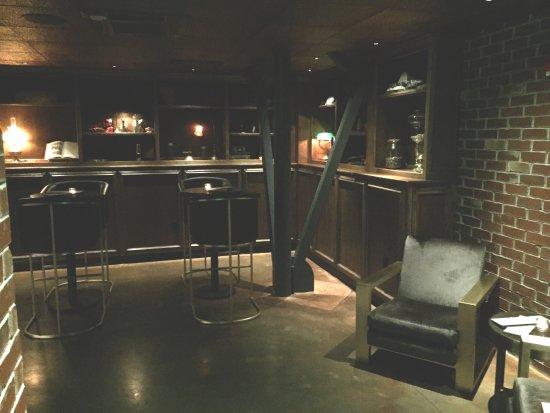 Preachers Son Dining Room Entrance To Basement Speakeasy Bar