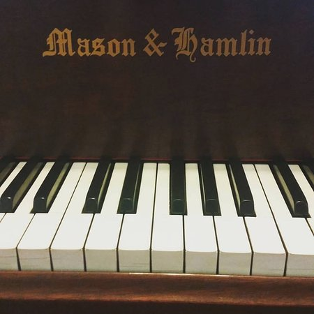 Austin, MN: Restored 1914 Mason & Hamlin piano is featured in the Living Room.