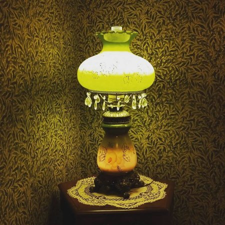 Austin, MN: A lamp featured in our upstairs hallway.