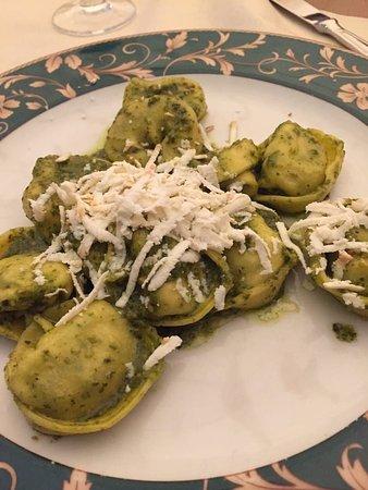 Al Casin dei Nobili: The house made smoky ricotta pesto tortellini was actually pretty tasty. Order the pasta here an