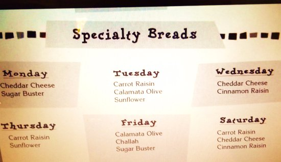 Rancho Mirage, CA: Specialty Breads different every day