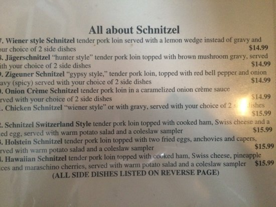 Great schnitzel and more!