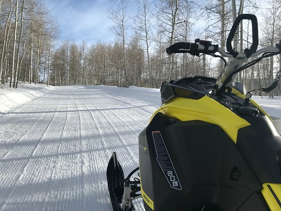 Heber City, UT: Fresh Groomed Trails on the brand new Skidoo 850