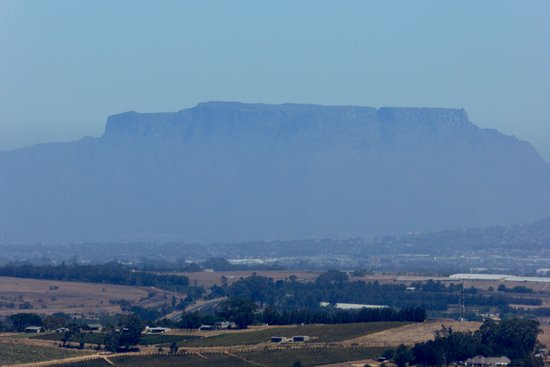 Paarl, South Africa: Table Mountain as seen from the Afrikaans Language Monument