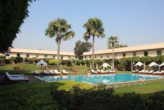 Trident, Agra: poolside