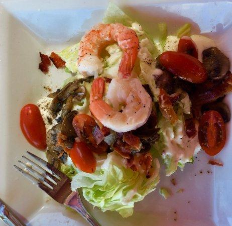 Surprise, AZ: The Wedge salad with cold big shrimp