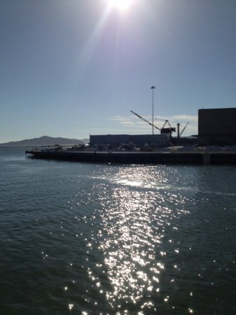 Richmond, CA: Riggers Loft from Harbor channel, next to Red Oak Victory