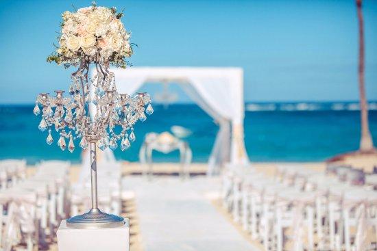 Kukua Beach Club Wedding Ceremony Setup On The At Punta Cana