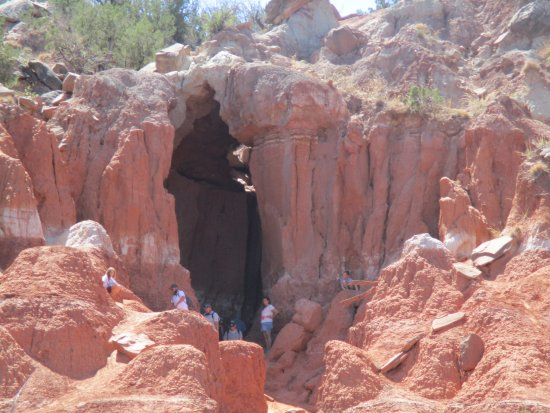 cave in Palo Duro Canyon, TX