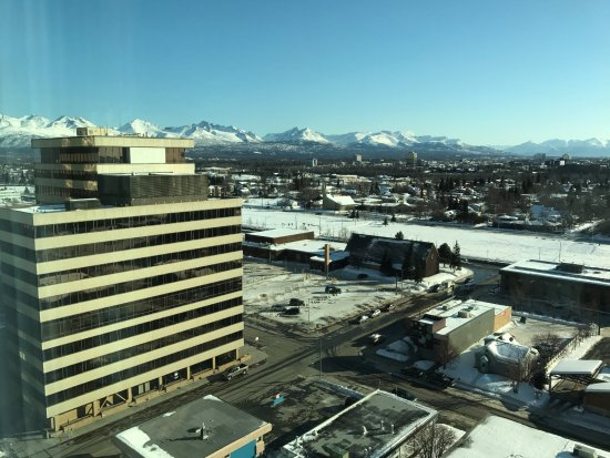 Early Sunrise Picture Of Anchorage Marriott Downtown