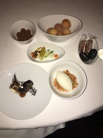 Per Se: This was our dessert spread...the donuts...OMG!!!