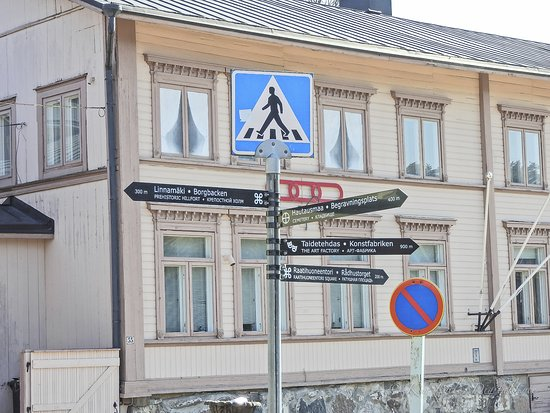 Old Town Porvoo, signpost