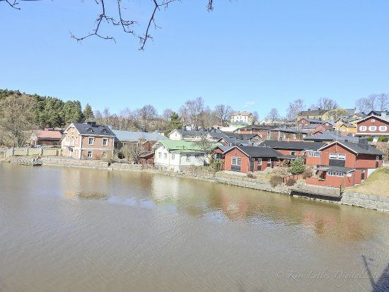 Old Town Porvoo, red river buildings
