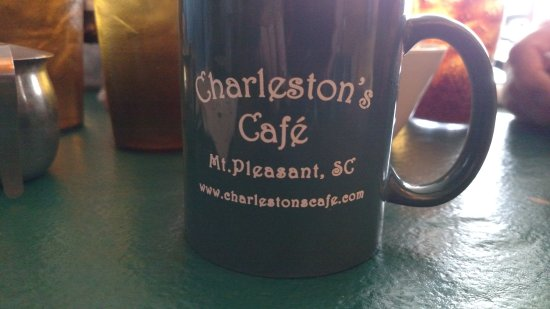 Charleston's Cafe: Great cup of coffee in the mug
