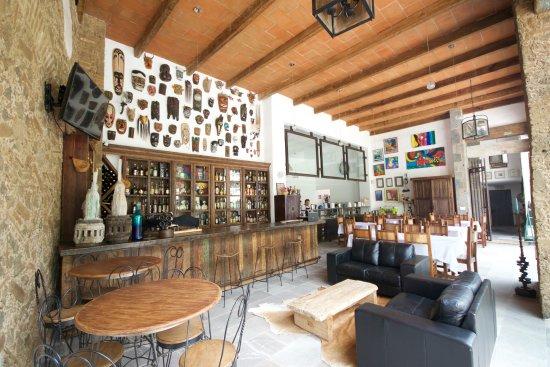 Restaurante Azul Violeta : El decorado provoca una amena atmosfera.
