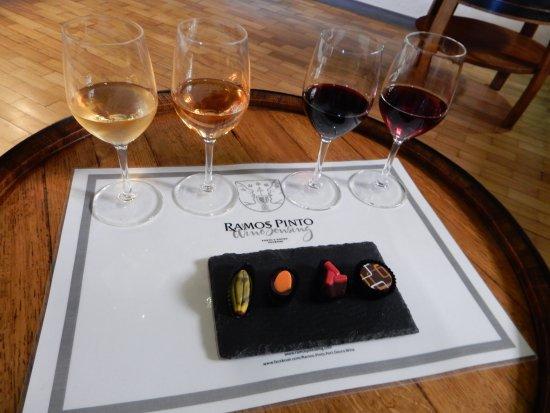 Vinicola Ramos Pinto: Four tastes, four chocolates. Perfect.