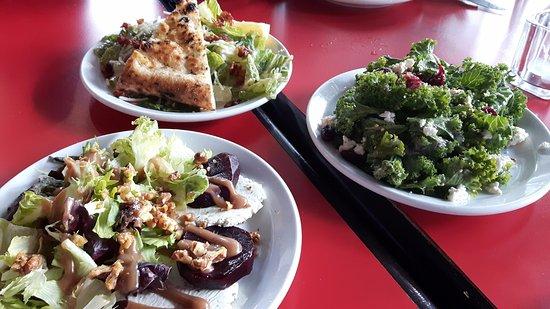 Piatto : Beet, Caesar, and Kale salads