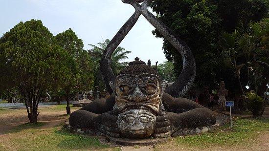 Buddha park statues