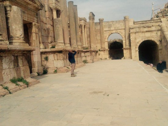Jerash Ruins: This is a pilgrimage for theatre lovers. I enjoyed every moment inside this wonderful space.