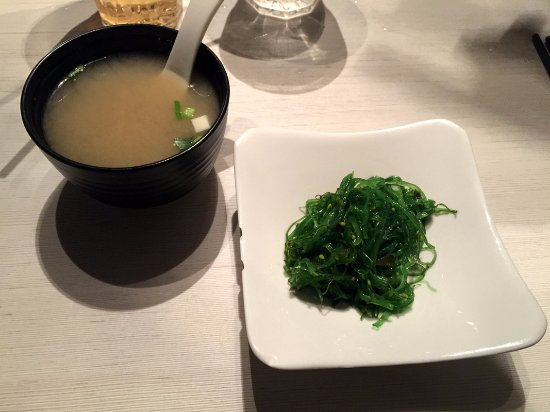 Belleville, Canada: Seaweed Salad & Miso Soup
