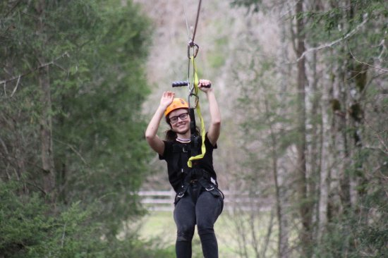 Foxfire Mountain Adventures: Smiling teen... holy cow