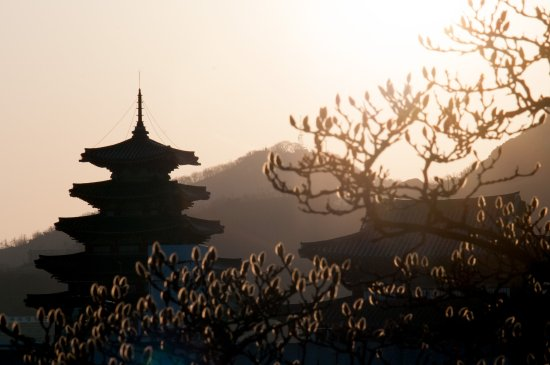 The National Folk Museum of Korea : View on The National Folk Museum from Bukchon.