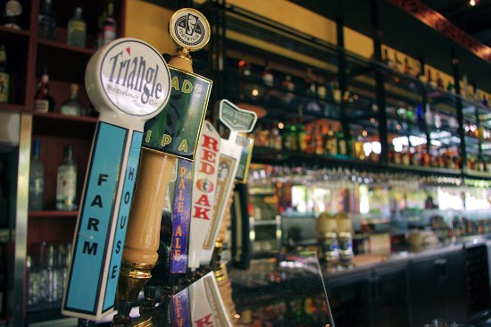 Local beers featured at Lucky 32 Southern Kitchen in Cary