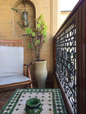 Ryad Salama Fes: Balcony in front of room