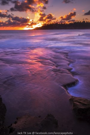 Norfolk Island, Australia: Sunset view from Emily Bay