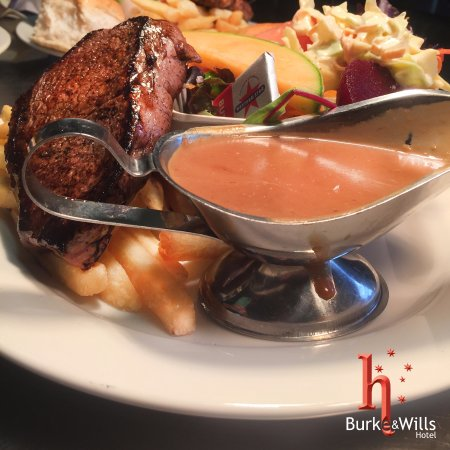 Toowoomba, Australien: Steak at Burke's Bar & Bistro