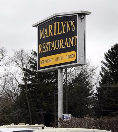Morton Grove, IL: sign for Marilyn's Restaurant on Dempster St.