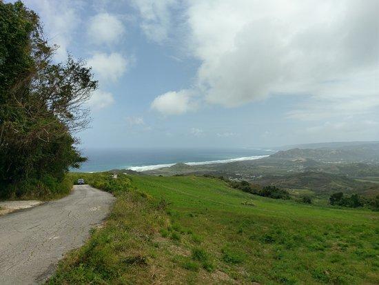 Saint Andrew Parish, باربادوس: Top of Cherry Tree Hill