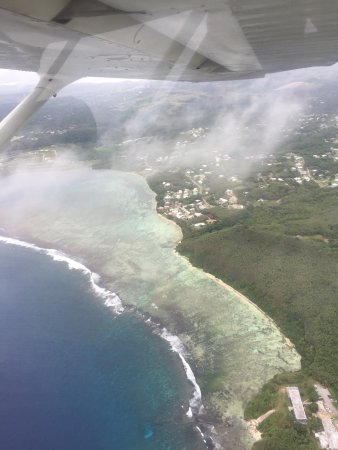 Barrigada, Mariana Islands: 날씨가 좋지 않아 먹구름낀 하늘..