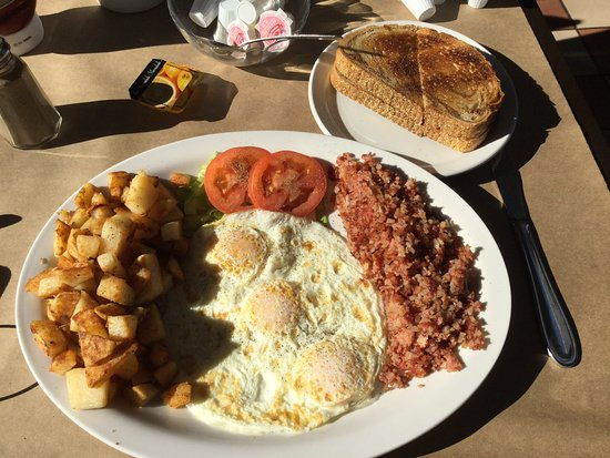 Bolton, Canada: My Corn Beef Hash, Eggs,Toast & Home fries