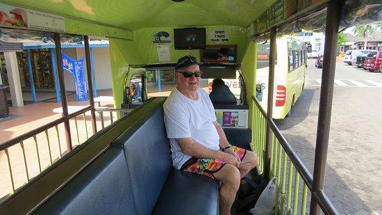 Denarau Island, Fiji: Brian on bula bus