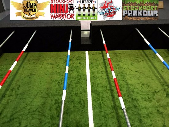 Stockport, UK: Come and try our Lifesize Football Table!! This is our newest addition to Jump Heaven.