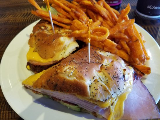 Camarillo, CA: This is the Brooklyn Hot Ham & Cheddar, which is hot, juicy, and flavorful.