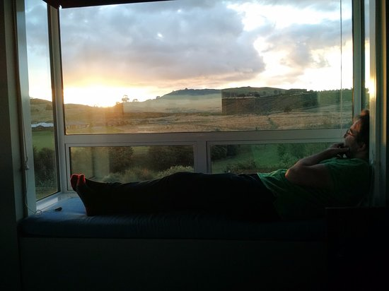 Sunset / view from the guest room