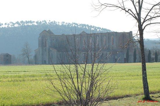 Chiusdino, Itália: Veduta dell'Abbazia
