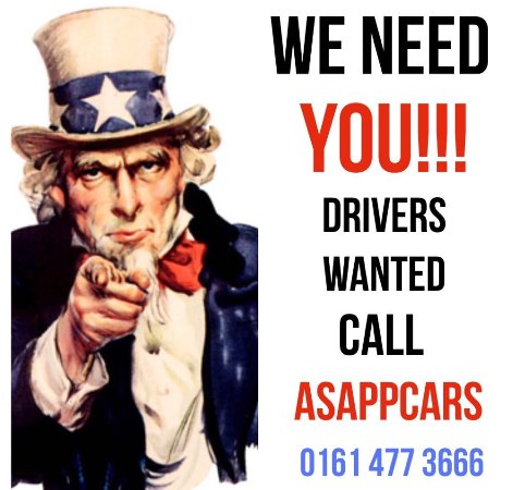 Stockport, UK: ASAPPcars are always looking for professional drivers to join the team