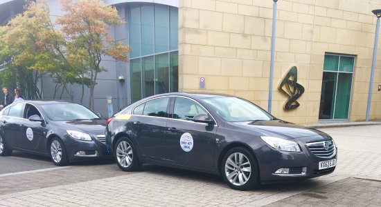Stockport, UK: Typical modern, clean saloon vehicles part of our fleet