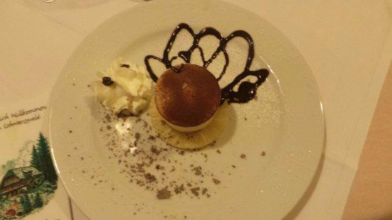 Hotel-Restaurant Löwen: Un très bon dessert en demi pension