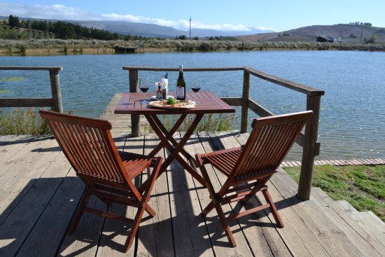 Elgin, South Africa: Pizza and wine with a view - what could possibly be better?