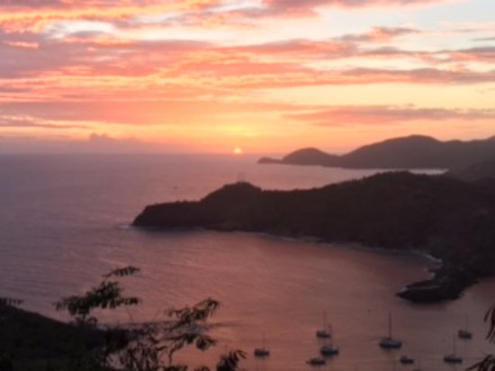 English Harbour, Antigua: Wow - the magnificent sunset!