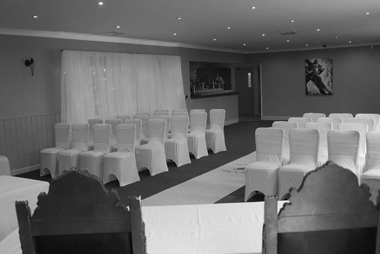 Brompton, UK: Wilford Suite set up for Wedding Ceremony
