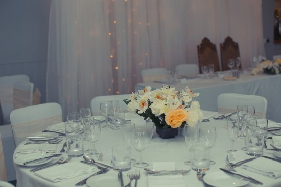 Brompton, UK: Wilford Suite set up for Wedding Reception
