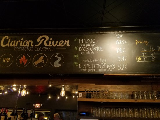 Clarion, PA: Good beer, good food.