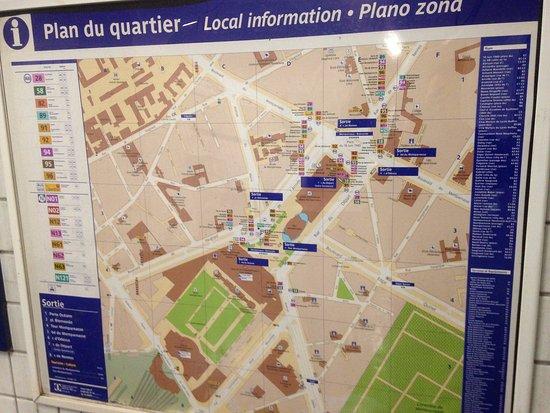 Plan du quartier de la gare photo de gare montparnasse for Plan interieur gare montparnasse