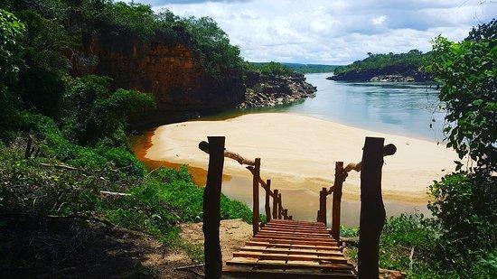 Miracema Do Tocantins, TO: Vista incrível da chegada a Prainha