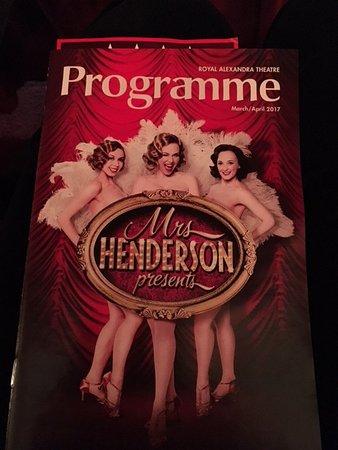 Royal Alexandra Theatre: Program